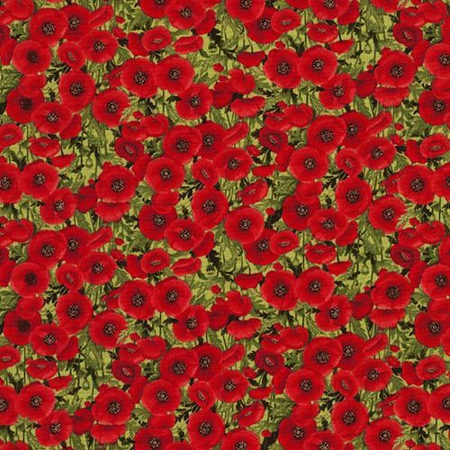 Fabric with red poppy flower green leaf by timeless treasures fabric with red poppy flower green leaf fabric by timeless treasures 1 mightylinksfo