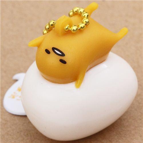 funny Gudetama egg yolk lying on egg squishy charm kawaii - Sanrio Squishy - Squishies - Kawaii ...