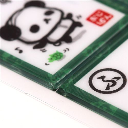 Funny ojipan panda bear card stickers by q lia from japan 5