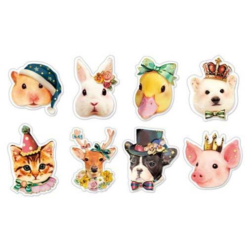 Funny animal hat crown cap bow sticker sack by q lia 1