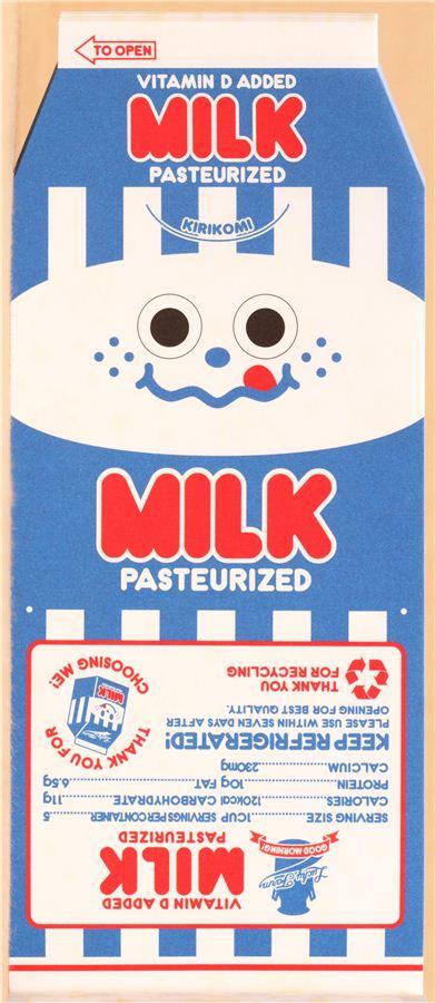 funny milk cardboard box memo pad from japan 5
