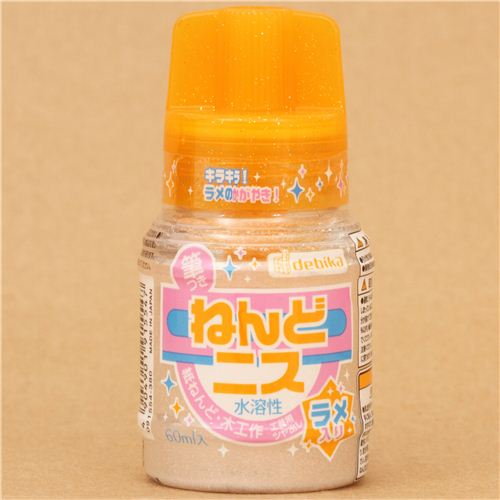 Glitter varnish for miniature paper clay projects japan for Paper clay projects