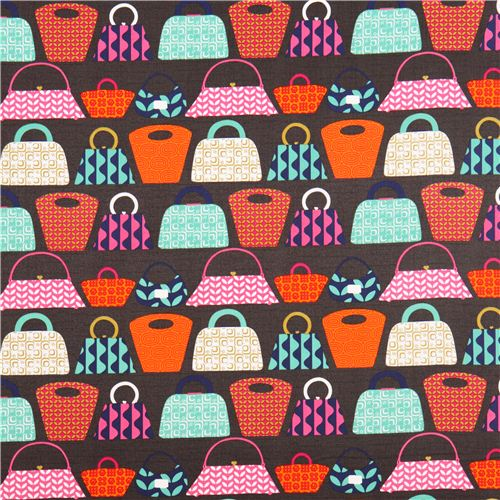 Gray Handbags Fabric By Michael Miller Purses Galore 2