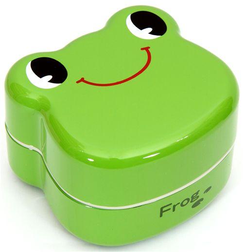 green frog bento box lacquer lunch box prime nakamura bento box bento boxes kawaii shop. Black Bedroom Furniture Sets. Home Design Ideas