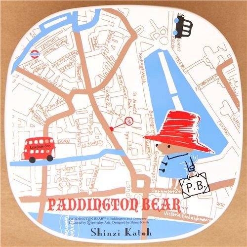 green paddington bear london map bento box lunch box bentos bento boxes kawaii shop modes4u. Black Bedroom Furniture Sets. Home Design Ideas