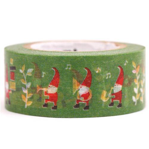 Nastro adesivo decorativo washi mt babbo natale elfo natale nastri adesivi natalizi nastri - Nastri decorativi natalizi ...