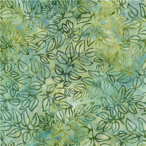 green and dark green robert kaufman leaf tie dye batik. Black Bedroom Furniture Sets. Home Design Ideas