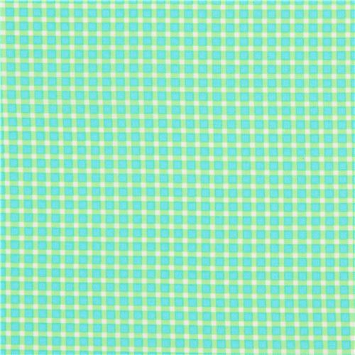 green lime green white square pattern fabric michael miller cute