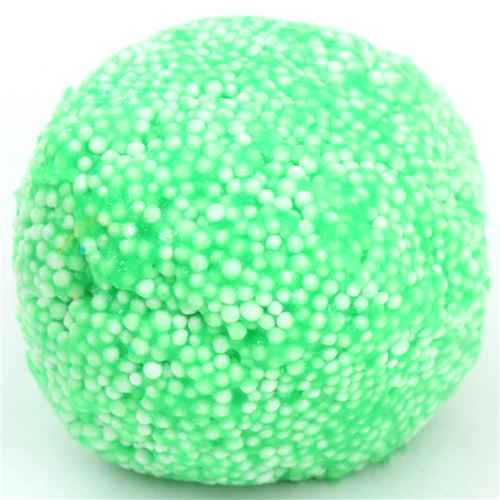 green microbead slime with case kawaii floam mud clay ...
