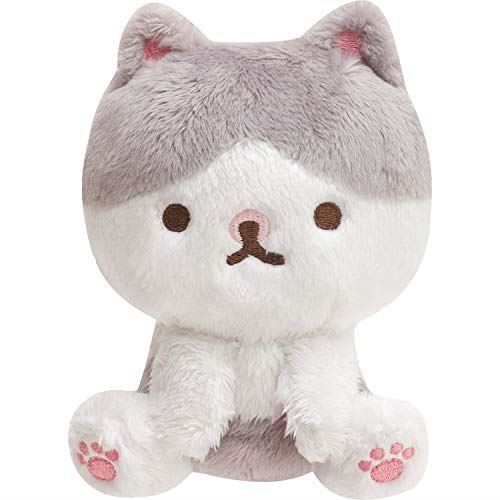 Grey And White Small San X Paripi Chan Cat Plush Toy Cat Plush