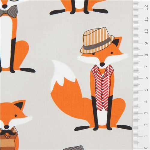 FOXES from Andies minis 3 FQT bundle 100/% cotton fabric by Robert Kaufman