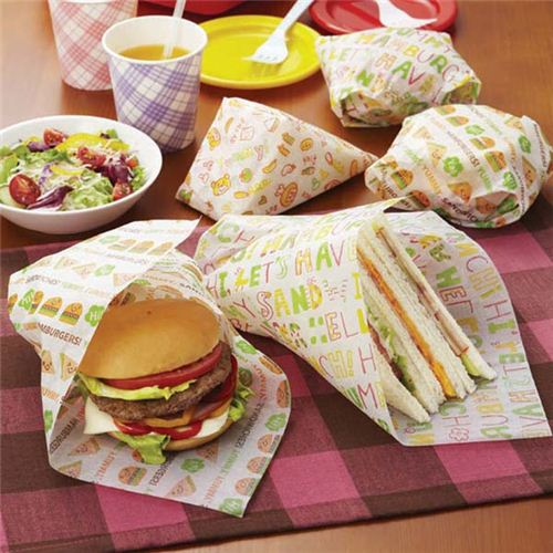 hamburgers bento box food sandwich wrapping papers bento accessories bento boxes kawaii. Black Bedroom Furniture Sets. Home Design Ideas