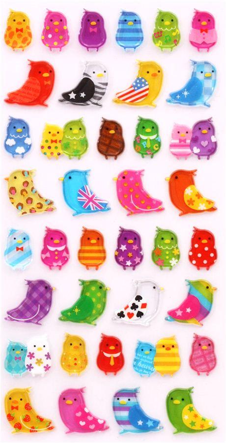 Pegatinas duras 3d de animales p jaros de mind wave de for Pegatinas de pared infantiles