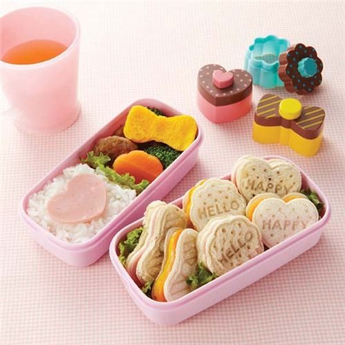 emporte pi ces pour bento et sandwichs coeur biscuit noeud accessoires pour bentos bo tes. Black Bedroom Furniture Sets. Home Design Ideas