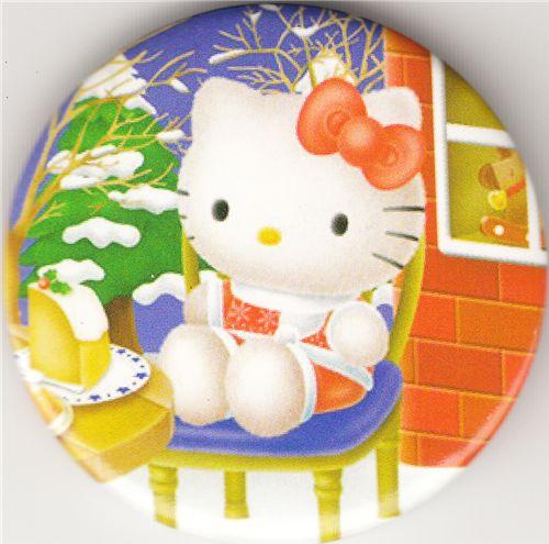 hello kitty weihnachten button buttons accessoires. Black Bedroom Furniture Sets. Home Design Ideas