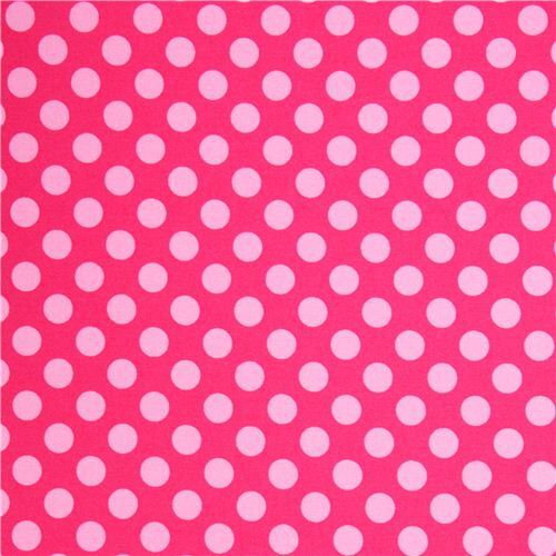 hot pink dot fabric pale pink polka dots by michael miller dots stripes checker fabric. Black Bedroom Furniture Sets. Home Design Ideas