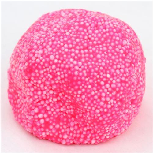 hot pink microbead slime with case kawaii floam mud clay ...