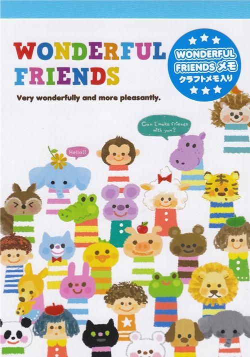 Kamio memo pad kawaii wonderful friends japan quaderni e - Porta pranzo tiger ...
