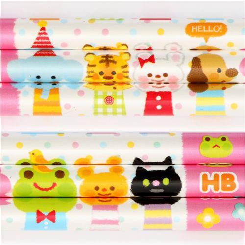 Kawaii animals pencil wonderful friends from japan penne - Porta pranzo tiger ...