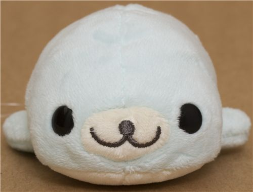 Kawaii Mamegoma Light Blue Seal Plush Toy By San X Other