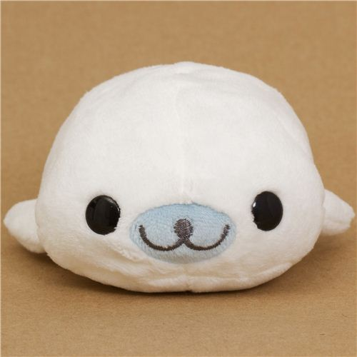 Kawaii Mamegoma White Seal Plush Toy By San X Stuffed