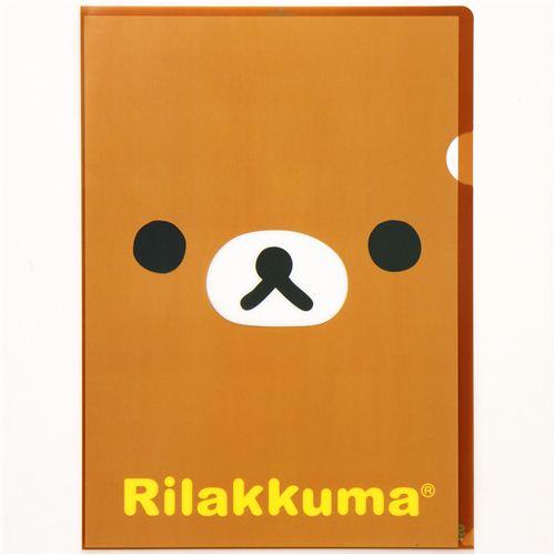Carpeta Plástico Kawaii A4 Oso Rilakkuma De San-X