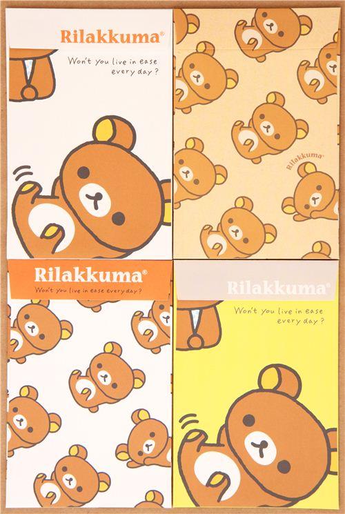 kawaii Rilakkuma brown bear letter paper set from Japan 1