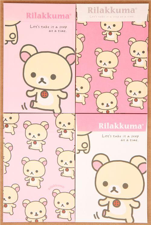 kawaii Rilakkuma white bear letter paper set du Japon1