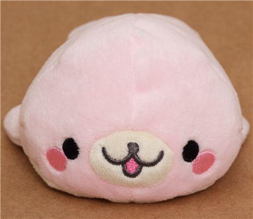 Kawaii San X Plush Toy Pale Pink Mamegoma Seal Other