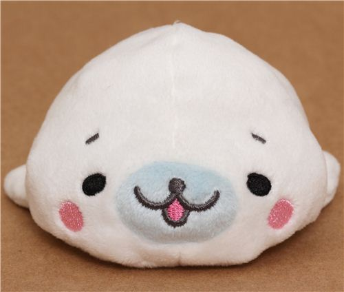 kawaii san-x plush toy white mamegoma seal - other plushies - plush toys