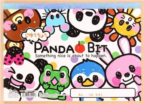 Cuaderno de dibujo animales kawaii oso panda rana pingino  Blocs