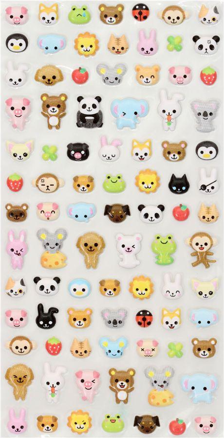 Kawaii Animals Sponge Sticker Q Lia From Japan Sticker