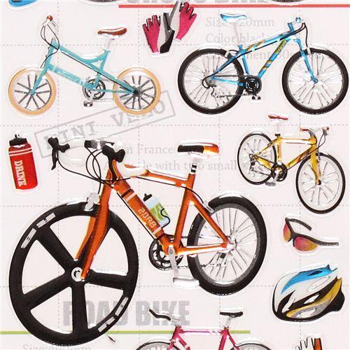 kawaii bicycle bike shiny stickers - Stickers for Boys ...