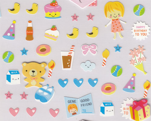 Birthday Party Kawaii Sticker Sticker Sheets Stickers