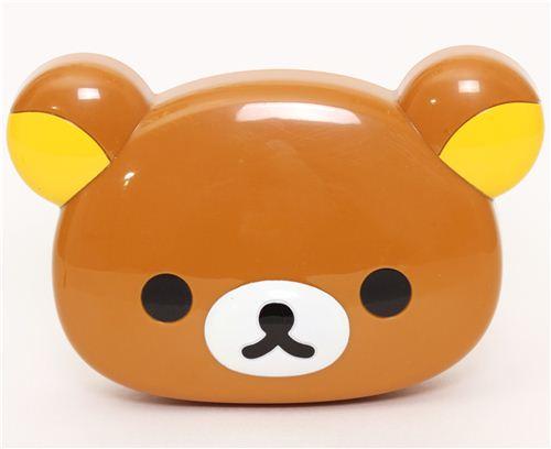 Kawaii Brown Rilakkuma Bear Face Bento Box Lunch Box
