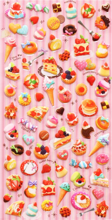 Kawaii cake sponge stickers q lia 5