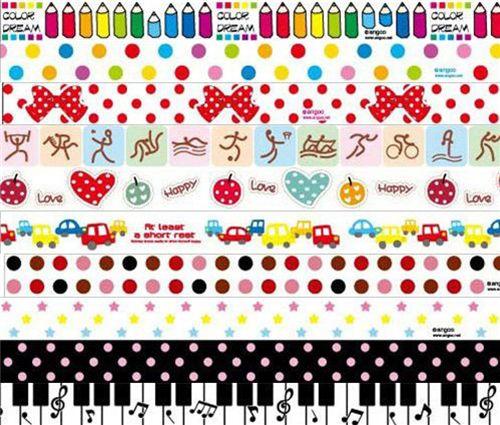 Kawaii deco tape 10pcs set 22 set di nastri decorativi nastri adesivi decorativi - Nastri decorativi natalizi ...