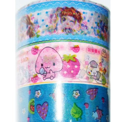 Kawaii deco tape 10pcs set 4 set di nastri decorativi nastri adesivi decorativi - Nastri decorativi natalizi ...