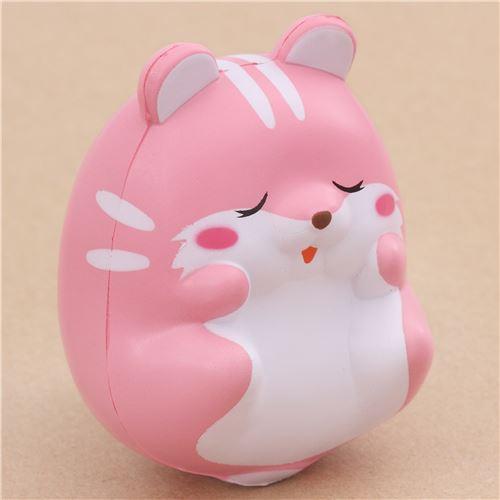 Squishy Eyes : kawaii eyes closed pink hamster animal scented squishy by iBloom - iBloom Squishies - Squishies ...