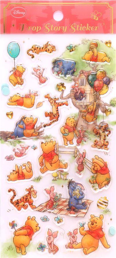 Niedliche harte 3D Aufkleber mit Winnie the Pooh Tigger Piglet ...