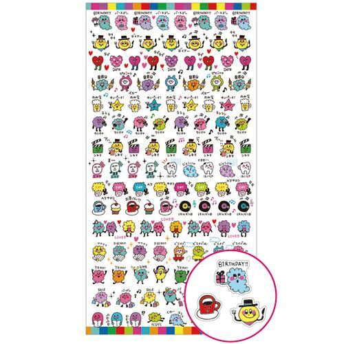 kawaii mini funny shapes stickers by mind wave animal stickers