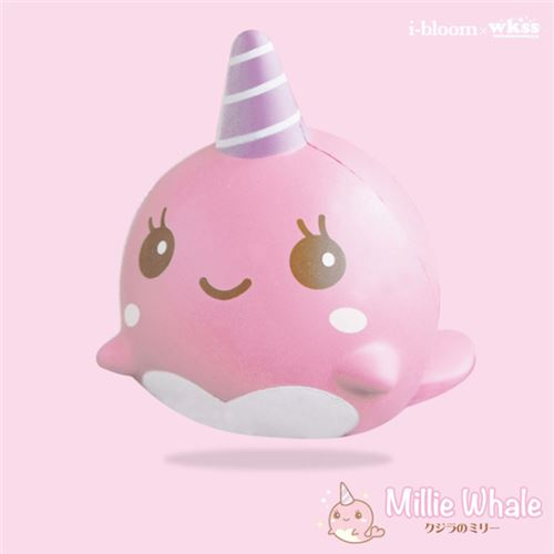 kawaii pink narwhal whale animal scented squishy by iBloom ...