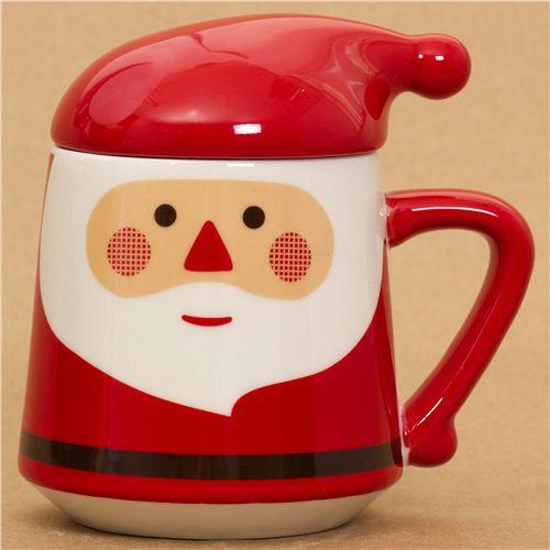 tasse kawaii rouge p re no l avec un couvercle bonnet tasses mugs bo tes bento boutique. Black Bedroom Furniture Sets. Home Design Ideas