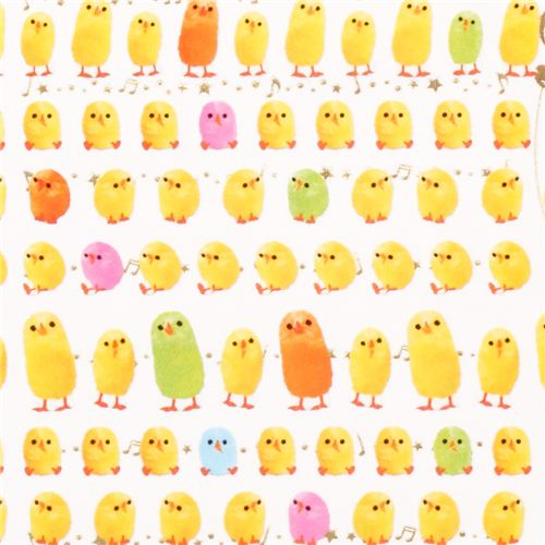 Kawaii Small Colourful Chick Stickers From Japan Animal