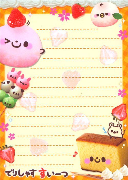 kawaii sweets mochi strawberry memo pad by q lia japan memo pads