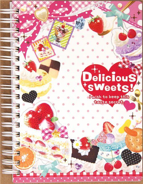 Cuaderno kawaii caramelos, dulces y fresas - Blocs de notas ...
