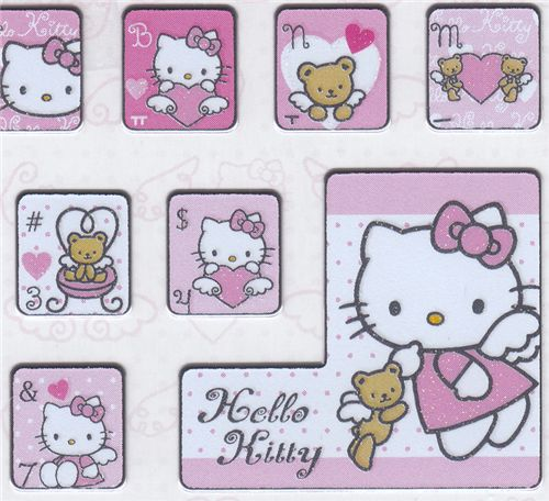 hello kitty tastatur sticker engel aufkleber tastatur. Black Bedroom Furniture Sets. Home Design Ideas