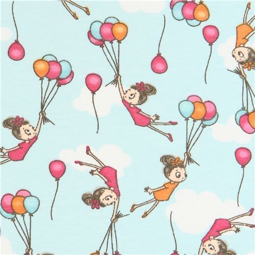 afc8329206e knit fabric by Stof France with children and balloons - modeS4u