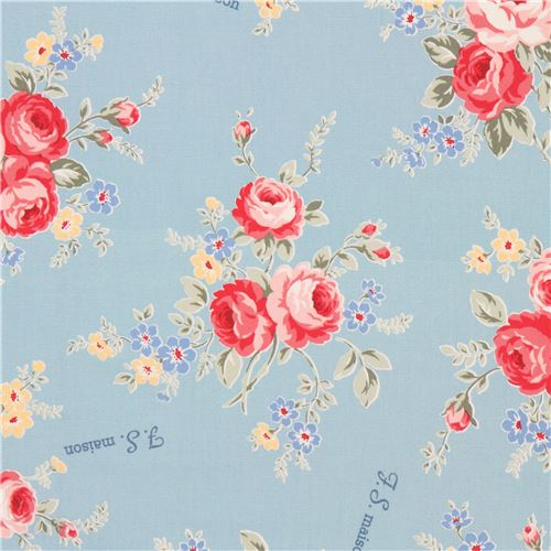 Light blue lecien oxford fabric pink blue light yellow flower light blue lecien oxford fabric pink blue light yellow flower 1 mightylinksfo
