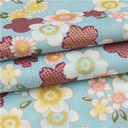 Kimono Vintage Fabric Remnant Pack 12 pieces of 25 x 25cm Square X257